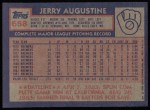 1984 Topps #658  Jerry Augustine  Back Thumbnail