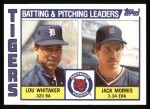 1984 Topps #666   -  Jack Morris / Lou Whitaker Tigers Leaders & Checklist Front Thumbnail