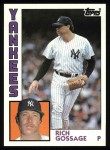 1984 Topps #670  Goose Gossage  Front Thumbnail