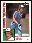 1984 Topps #678  Chris Speier  Front Thumbnail