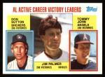 1984 Topps #715  Jim Palmer / Don Sutton / Tommy John  Front Thumbnail