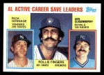 1984 Topps #718  Goose Gossage / Dan Quisenberry / Rollie Fingers  Front Thumbnail