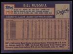 1984 Topps #792  Bill Russell  Back Thumbnail