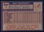 1984 Topps #19  Ray Fontenot  Back Thumbnail