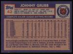1984 Topps #42  Johnny Grubb  Back Thumbnail