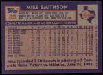 1984 Topps #89  Mike Smithson  Back Thumbnail