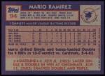 1984 Topps #94  Mario Ramirez  Back Thumbnail