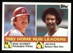 1984 Topps #132  Jim Rice / Mike Schmidt  Front Thumbnail