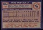 1984 Topps #191  Mike Boddicker  Back Thumbnail