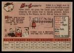 1958 Topps #24 WN Hobie Landrith  Back Thumbnail