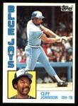 1984 Topps #221  Cliff Johnson  Front Thumbnail