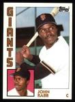1984 Topps #228  John Rabb  Front Thumbnail