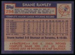 1984 Topps #254  Shane Rawley  Back Thumbnail