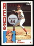 1984 Topps #270  Jeff Russell  Front Thumbnail