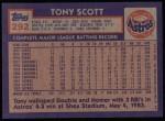 1984 Topps #292  Tony Scott  Back Thumbnail