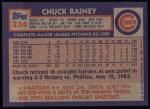 1984 Topps #334  Chuck Rainey  Back Thumbnail