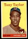 1958 Topps #411  Tony Taylor  Front Thumbnail