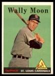 1958 Topps #210  Wally Moon  Front Thumbnail
