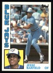 1984 Topps #488  Jesse Barfield  Front Thumbnail