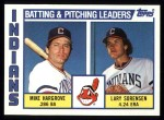 1984 Topps #546   -  Mike Hargrove / Larry Sorenson Indians Leaders & Checklist Front Thumbnail