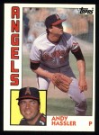 1984 Topps #719  Andy Hassler  Front Thumbnail