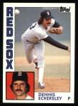 1984 Topps #745  Dennis Eckersley  Front Thumbnail