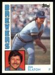 1984 Topps #772  Jim Slaton  Front Thumbnail