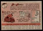 1958 Topps #76 WT Dick Farrell  Back Thumbnail