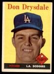 1958 Topps #25  Don Drysdale  Front Thumbnail