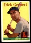 1958 Topps #38  Dick Gernert  Front Thumbnail