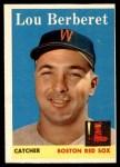1958 Topps #383  Lou Berberet  Front Thumbnail