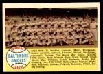 1958 Topps #408 ALP  Orioles Team Checklist Front Thumbnail