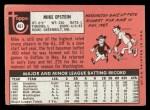 1969 Topps #461 YN Mike Epstein  Back Thumbnail