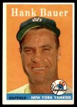 1958 Topps #9  Hank Bauer  Front Thumbnail