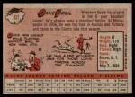1958 Topps #107  Ossie Virgil  Back Thumbnail