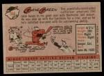 1958 Topps #366  Gene Green  Back Thumbnail