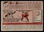 1958 Topps #467  Glen Hobbie  Back Thumbnail