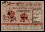 1958 Topps #407  Carlton Willey  Back Thumbnail