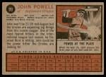 1962 Topps #99  Boog Powell  Back Thumbnail