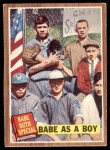 1962 Topps #135 NRM  -  Babe Ruth Babe as a Boy Front Thumbnail