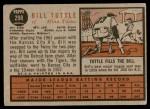 1962 Topps #298  Bill Tuttle  Back Thumbnail