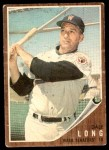 1962 Topps #228  Dale Long  Front Thumbnail