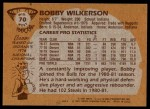 1981 Topps #70 MW Bobby Wilkerson  Back Thumbnail