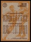 1981 Topps #109 MW  -  Bob Lanier Super Action Back Thumbnail
