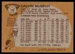 1981 Topps #15  Calvin Murphy  Back Thumbnail