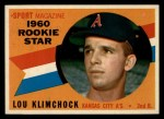 1960 Topps #137   -  Lou Klimchock Rookie Star Front Thumbnail