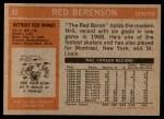 1972 Topps #95  Red Berenson  Back Thumbnail