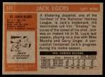 1972 Topps #147  Jack Egers  Back Thumbnail