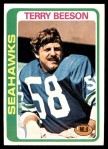 1978 Topps #313  Terry Beeson  Front Thumbnail