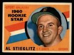 1960 Topps #144   -  Al Stieglitz Rookie Star Front Thumbnail